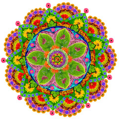 Isolated floral mandala
