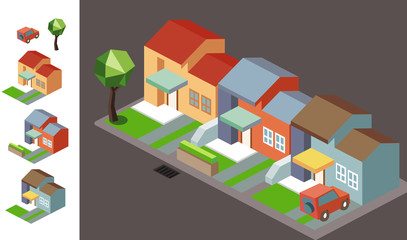 Night Neighbourhood isometric
