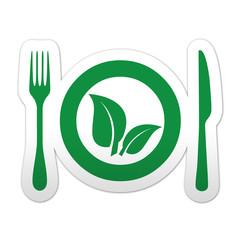 Pegatina simbolo verde vegano