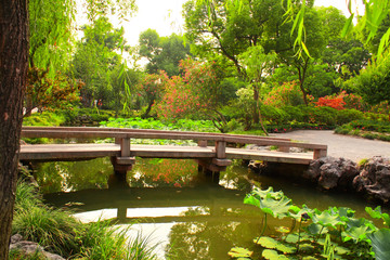 Bridge in Humble Administrator's Garden in Suzhou, China