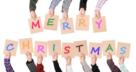 Merry Christmas placards