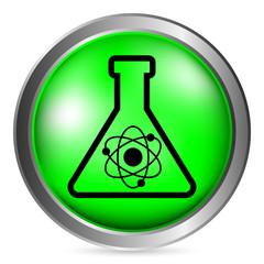 Laboratory glass button