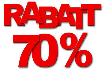 Rabatt 70 Prozent