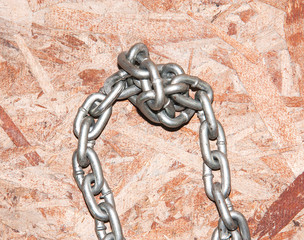 Chains are tightly bound