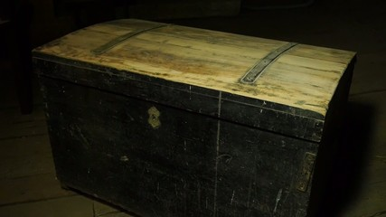 Old wooden pirate chests, treasure hunter
