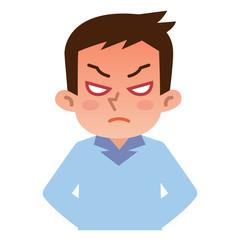怒っている若い男性