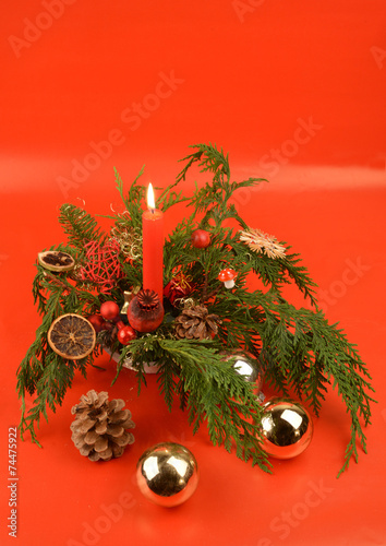 canvas print picture Weihnachtsgruss rot