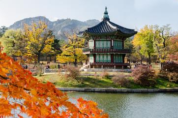 Gyeongbokgung Palace in Seoul ,Korea
