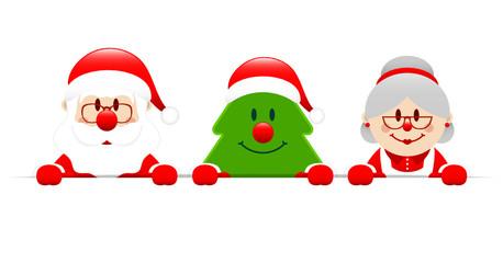 Santa, Tree & Santa´s Wife Banner
