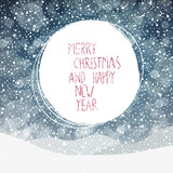 Fototapety Falling Snow. Merry Christmas Background