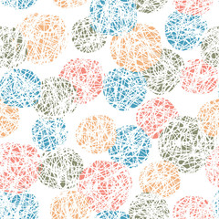 Seamless Doodles Ball Pattern