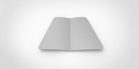 grey blank magazine spread on white background