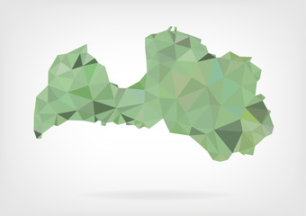 Low Poly Map of Latvia