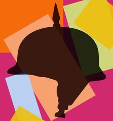Silhouette pop d'un casque à pointe