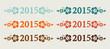 Vector 2015 text in retro colors