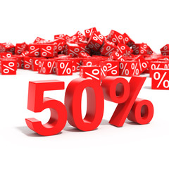 50 percent discount in focus