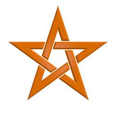Pentagram - 005B - Orange