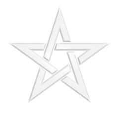 Pentagram - 005B - White