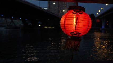 Lampion on Asian Boat Trip Swinging