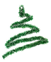 image of a garland in the shape of a Christmas tree