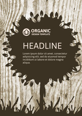 Vector nature organic template for brochure, flyer, magazine cov