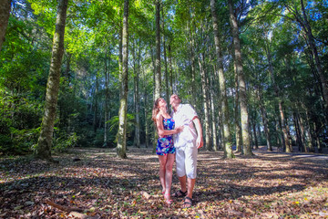 couple at Bali tree park