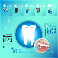 Tooth healthy infographics