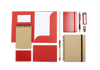 A set of stationery for the application of your logo.