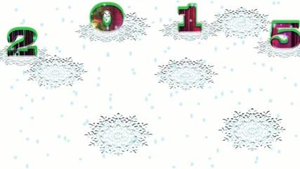 Цветные цифры на снежном фоне