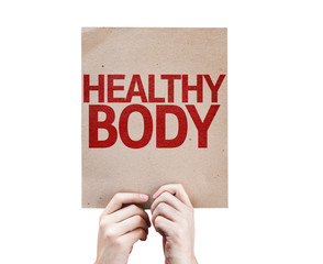 Healthy Body card isolated on white background