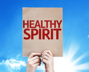 Healthy Spirit card with sky background