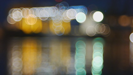 Abstract colorful blinking bokeh background