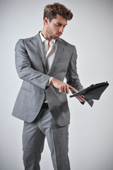 Man With Tablet For Business