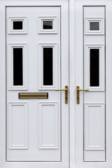 Front white door