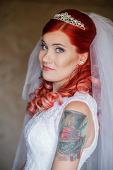 Bride with a tattoo