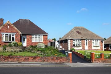 Typical redbrick english houses
