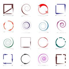Design elements set with arrows.