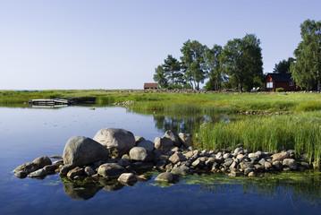 Küstenlandschaft in Bergkvara, östliches Schweden