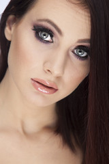 beauty shot of beautiful young woman with perfect skin