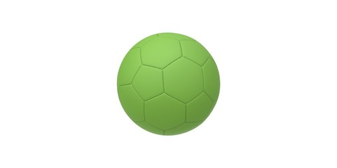 green soccer ball isolated on white. football ball