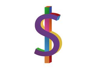 colorful dollar