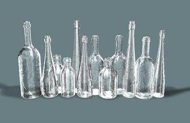 Bottiglie bianche