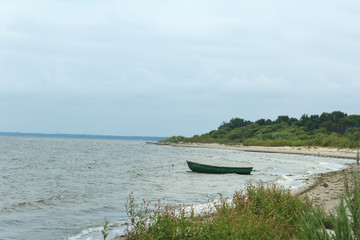 Boat on the water near the shore