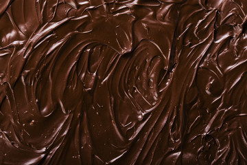 texture of chocolate icing close-up