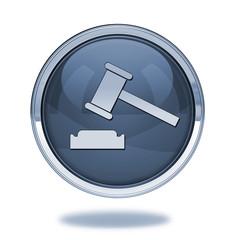 Auction pointer icon on white background