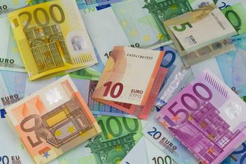 verschiedene Euro Geldscheine