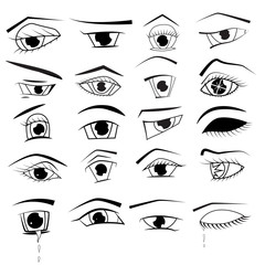 Eyes in the style of anime