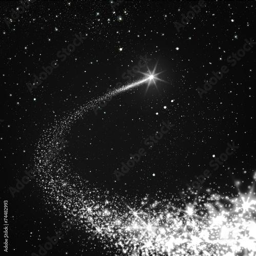 Fototapeta Sternschnuppe, Komet, Sternbild, Orion, Nachthimmel, Sterne, All