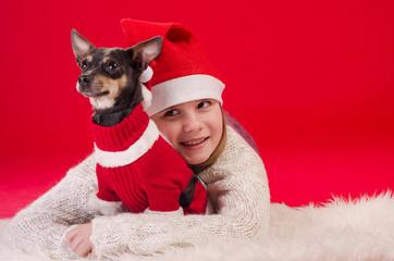 Christmas cute friends
