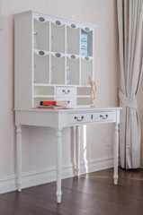 white classic dressing table
